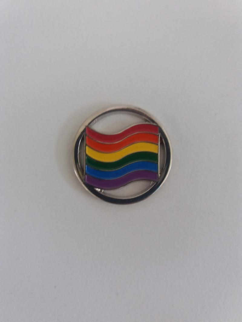 Einkaufswagen-Chip Regenbogen, Durchmesser: 24 mm
