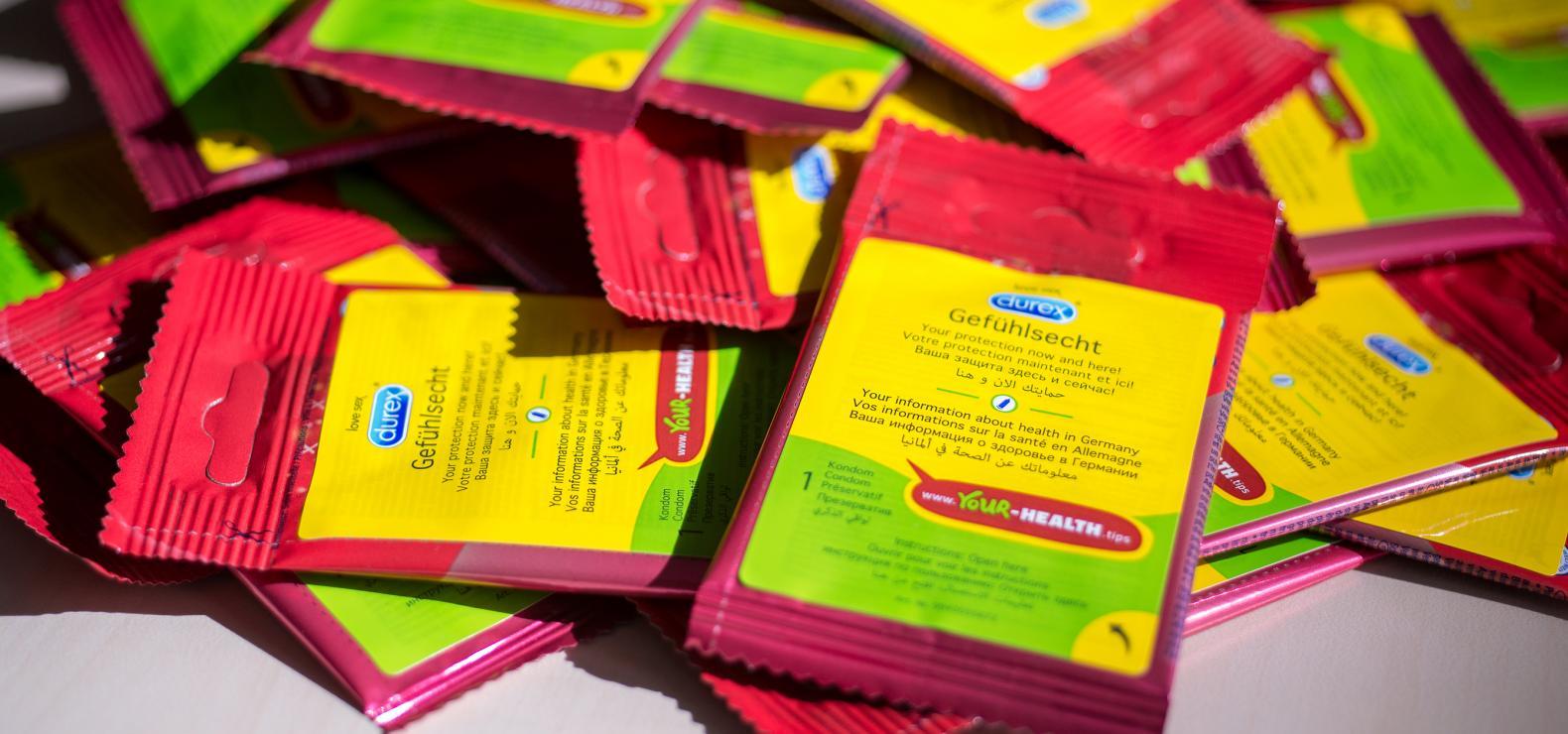 Kondome mit Hinweis auf die Website your-health.tips
