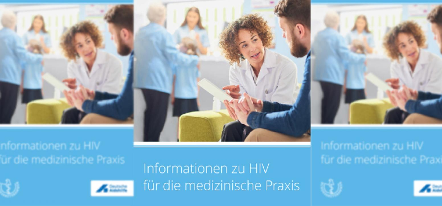 blaues Cover zur Broschüre medizinische Praxis