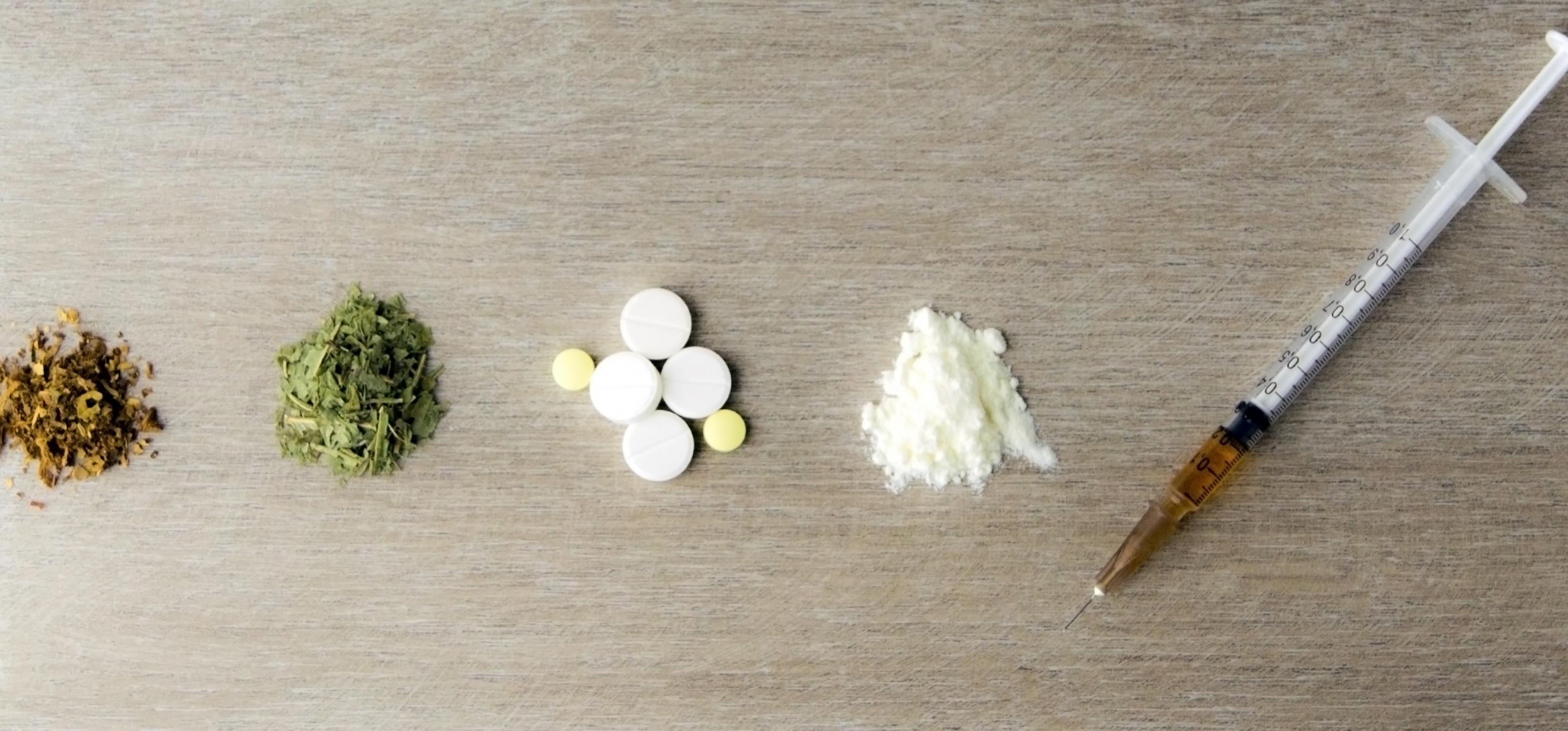 Verschiedene Drogen im Überblick