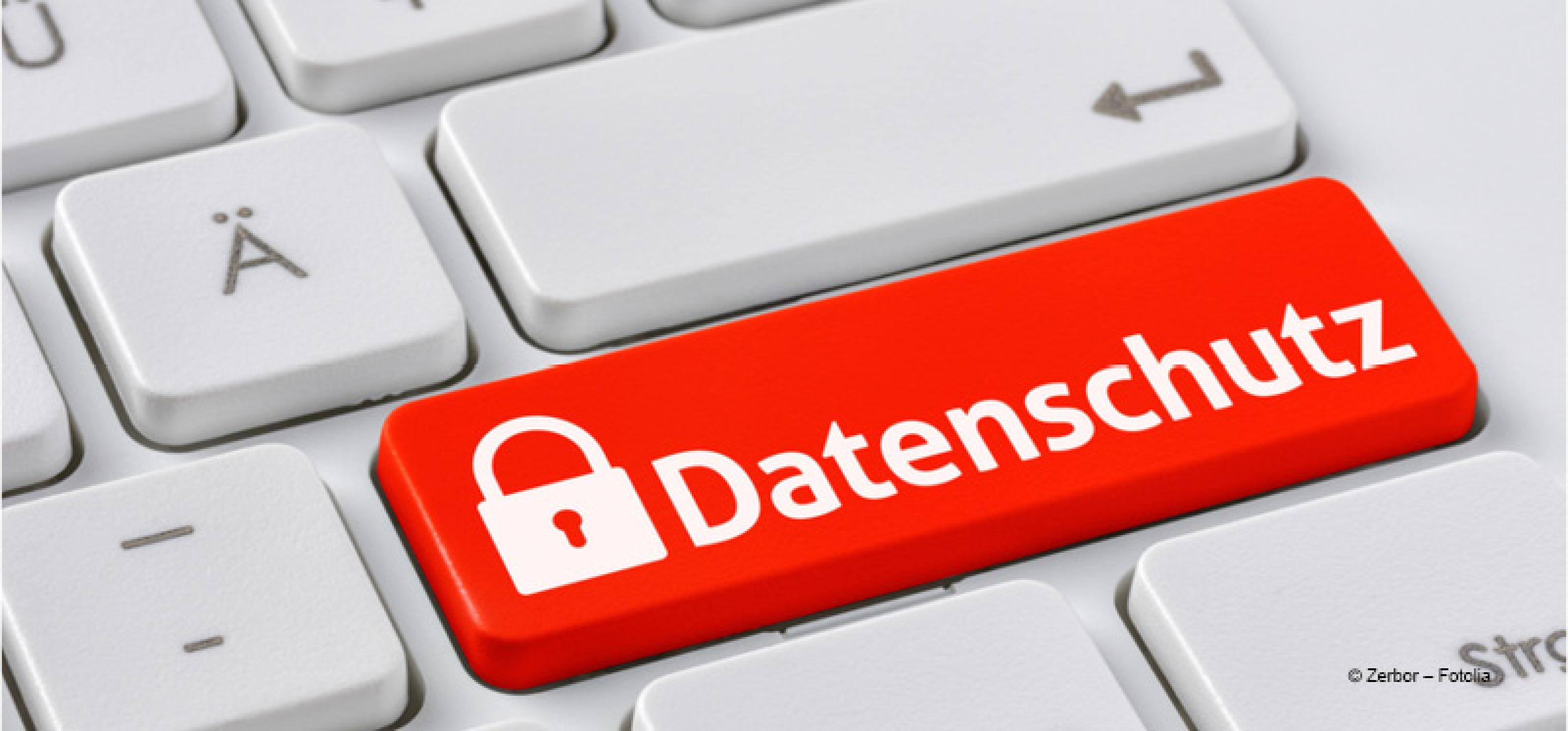 Tastatur mit Datenschutz-Taste