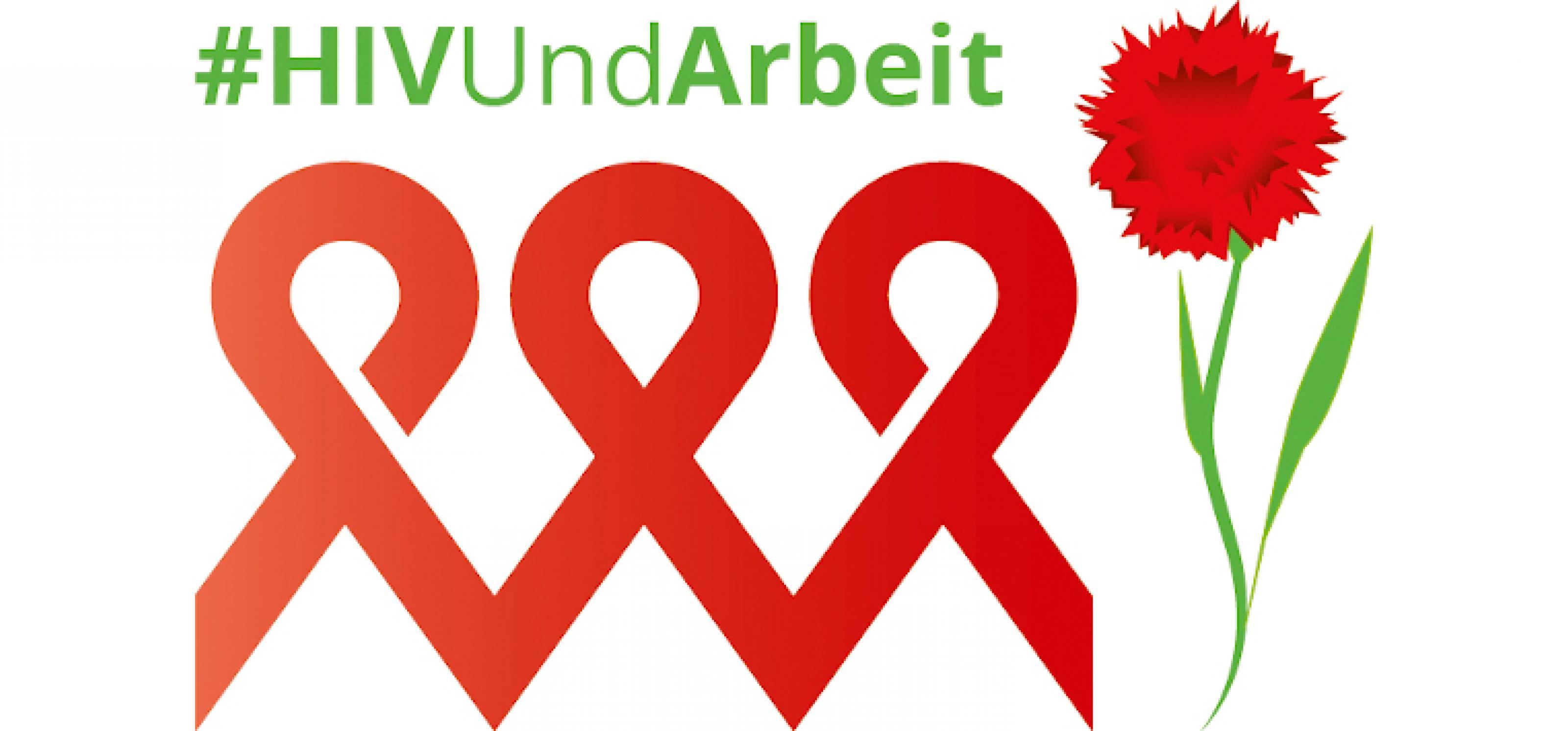 Logo HIV und Arbeit
