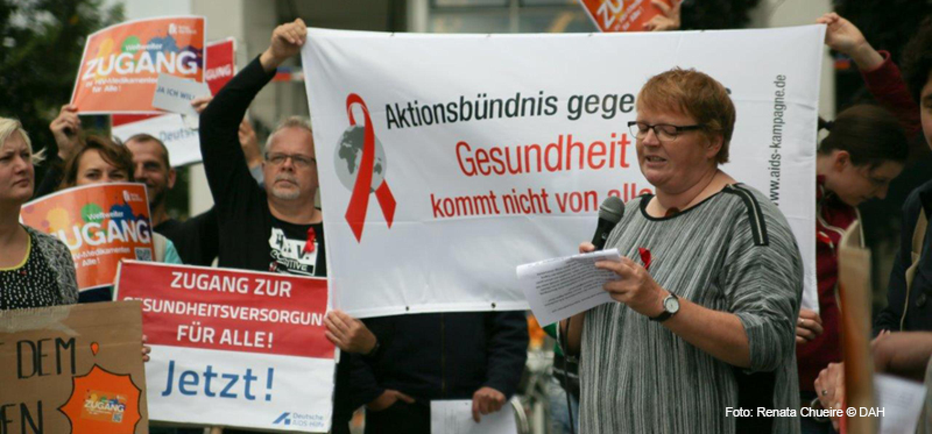 Kundgebung Bundesinitiative HIV und Migration