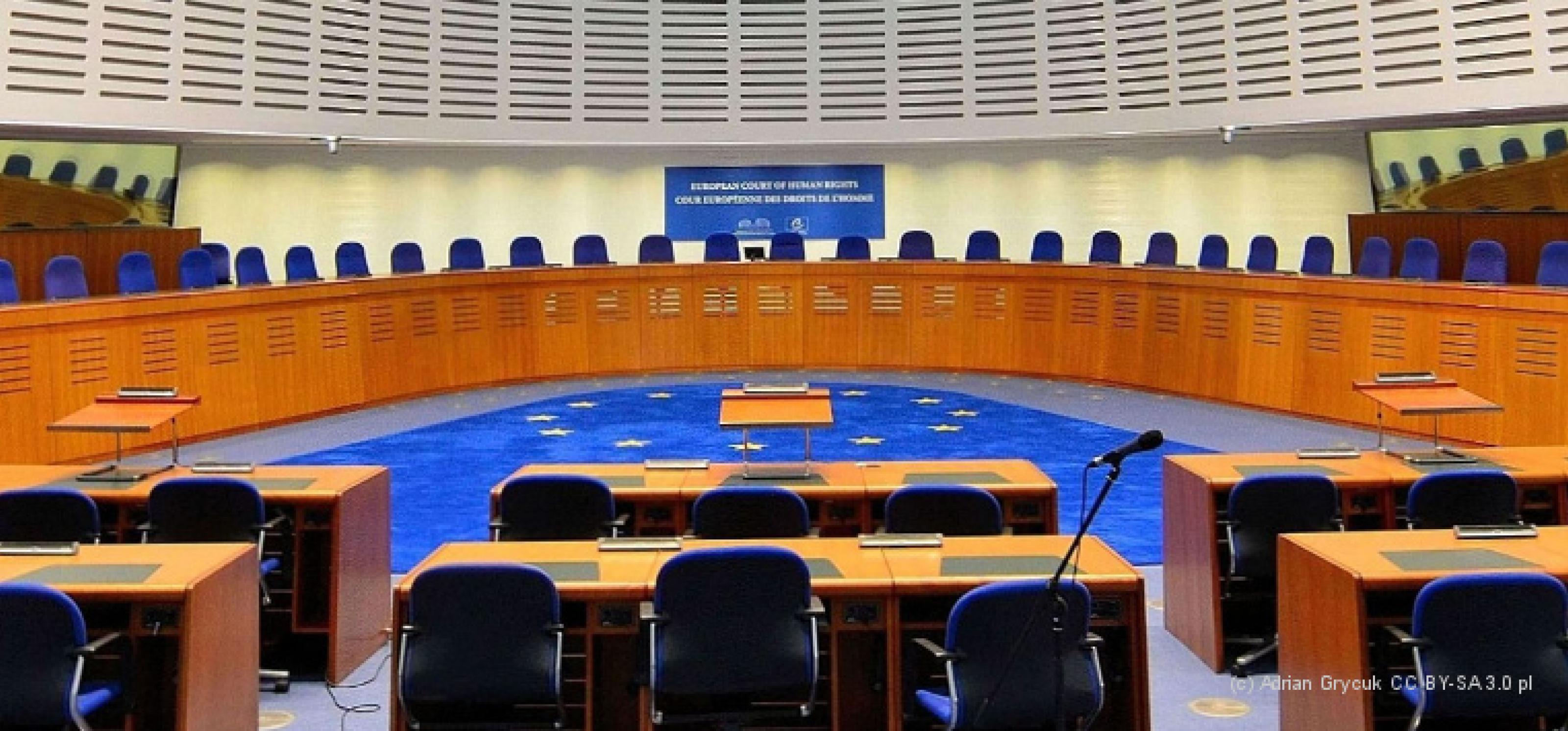 Innenansicht des Straßburger Gerichtssaals im Europäischen Gerichtshof für Menschenrechte