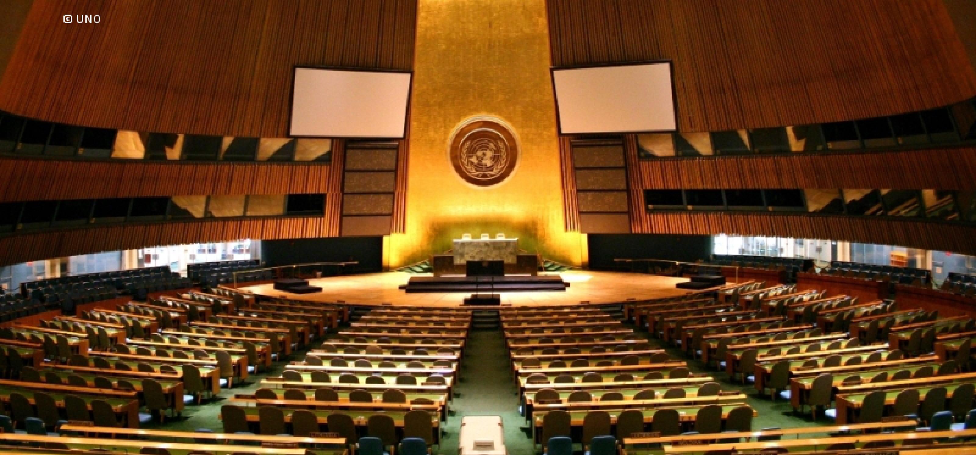 Plenarsaal der Vereinten Nationen in New York