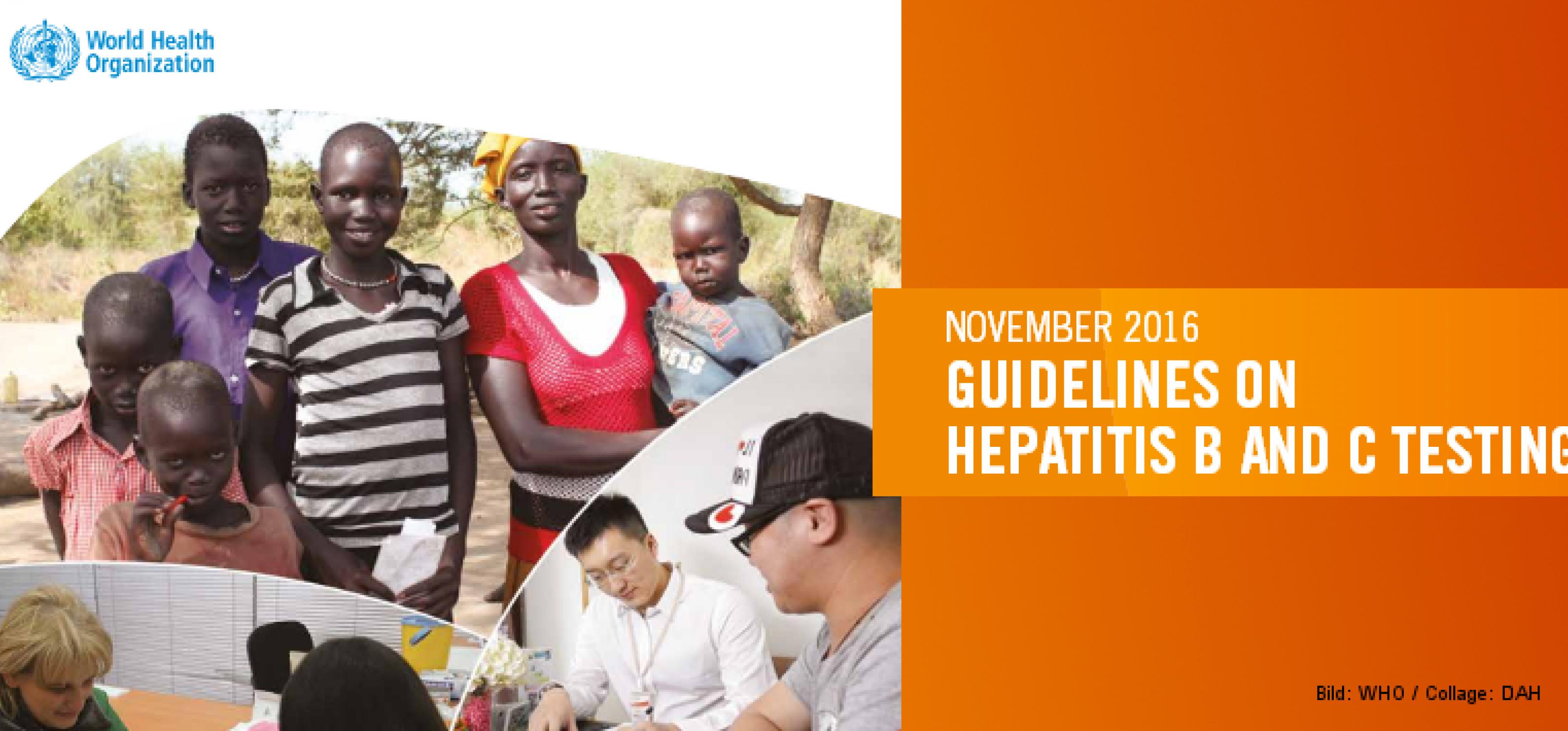 Umschlag der WHO-Leitlinien zur Hepatitis-Testung
